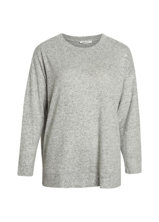 Butter Fleece Crew Neck Long Sleeve, Grey, original