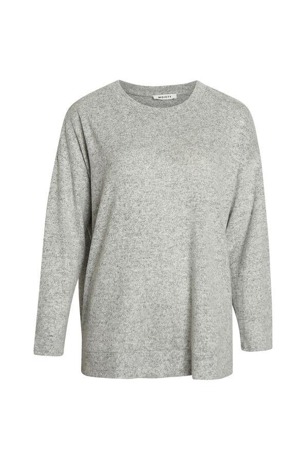 Butter Fleece Crew Neck Long Sleeve, Grey, original image number 0