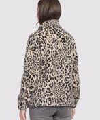 Leopard Fleece Sherpa, Tan, original image number 1