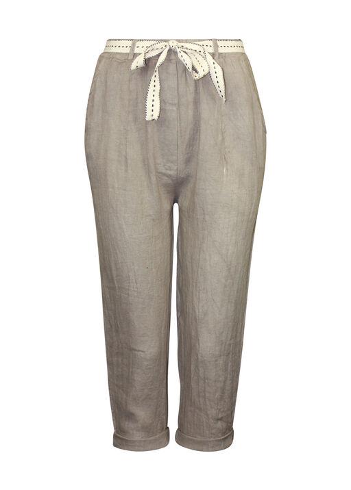 Cropped Linen Pant , , original