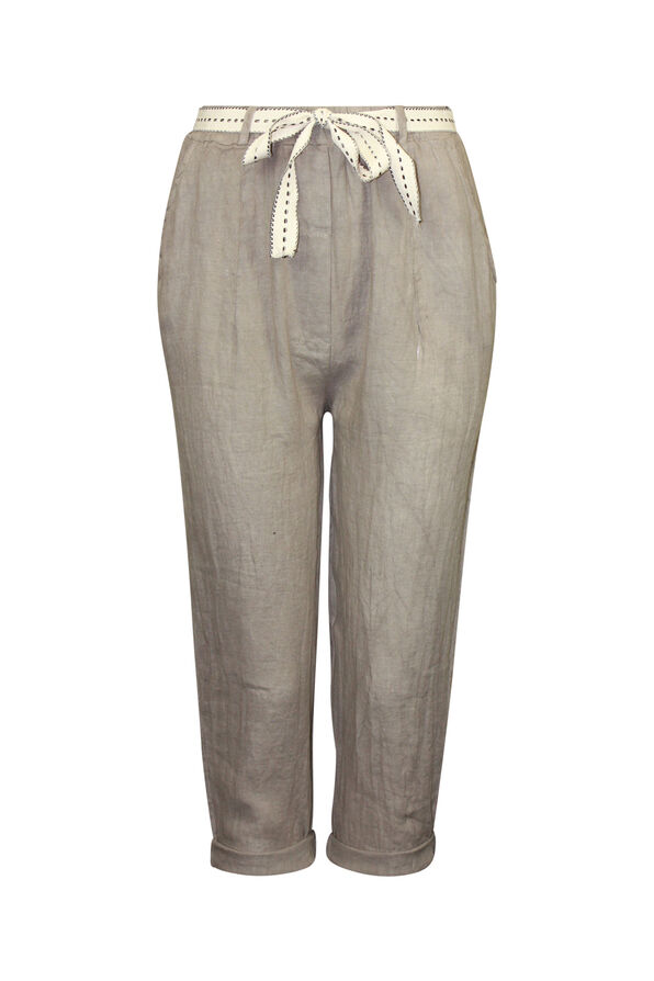 Cropped Linen Pant , , original image number 1