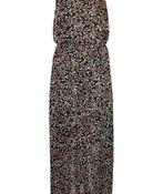 Floral Print Sleeveless Maxi Dress, Black, original image number 0