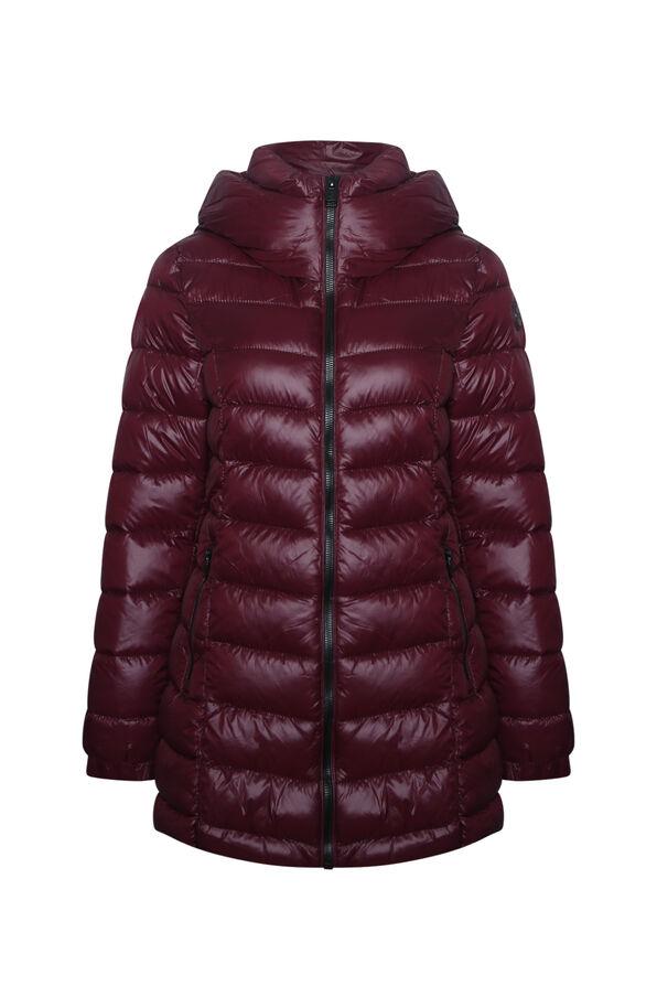 Long Mid Weight Puffer Coat , , original image number 1