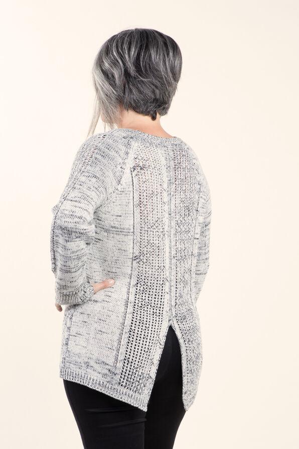 Long Sleeve Pullover Sweater, Black, original image number 1