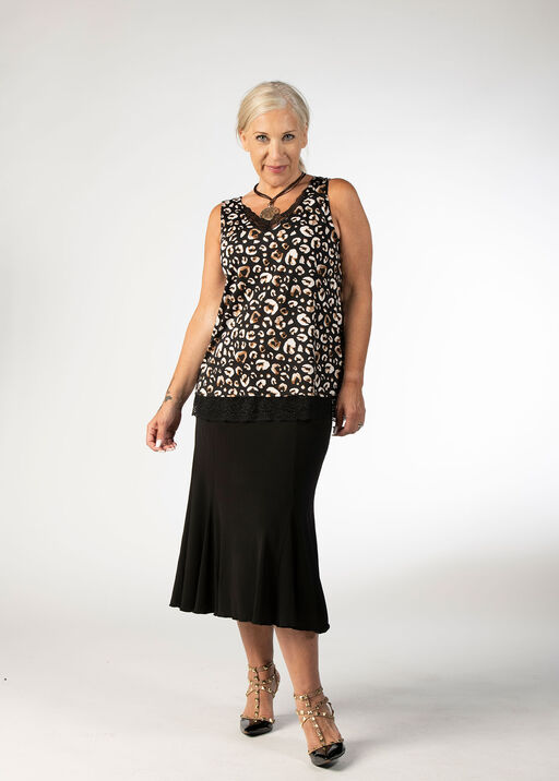 Leopard Lace Top, Black, original