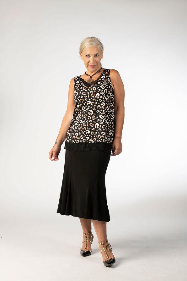Leopard Lace Top, Black, original image number 0