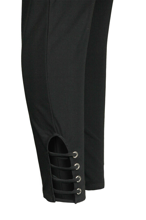 Legging with Lattice Ankle, Black, original image number 2