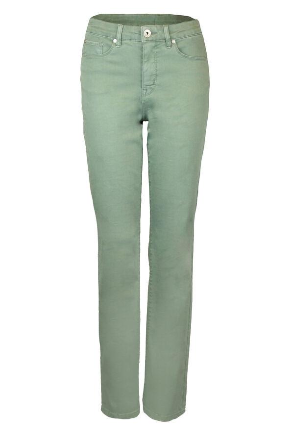 Green Audrey Denim Straight Leg, Green, original image number 2