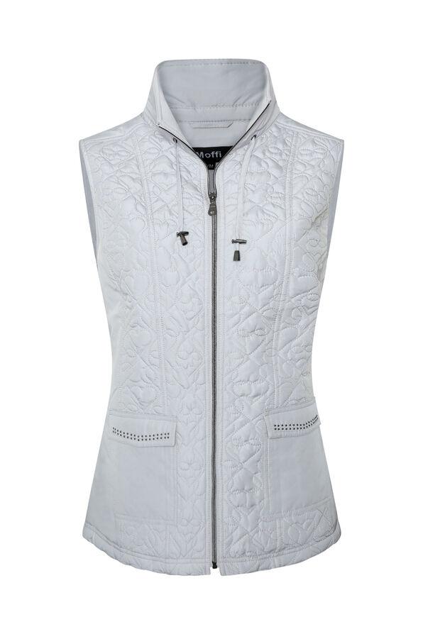 Quilted Heart Vest with Studded Pockets, , original image number 4
