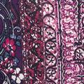 Cowl Neck Dolman Sleeve Print, Wine, swatch