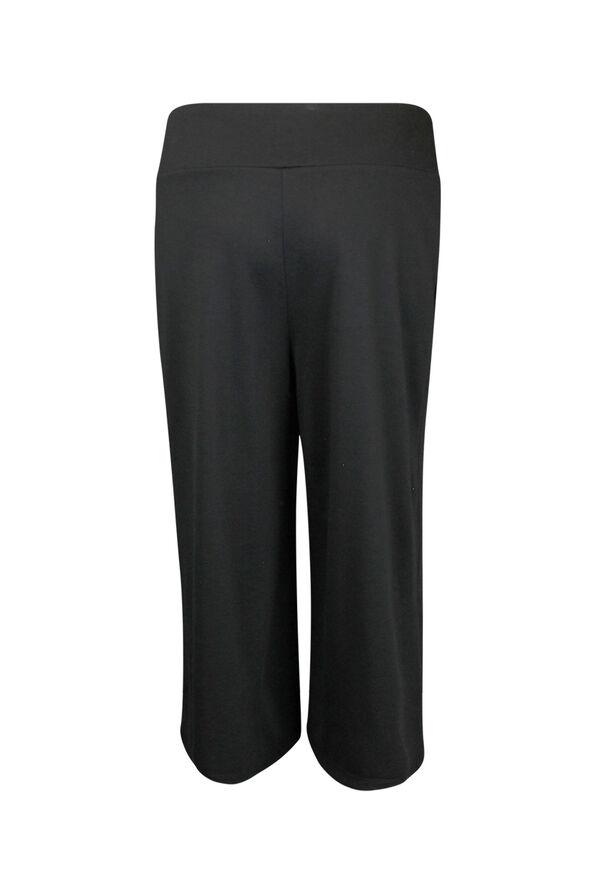 Pull On Gaucho Pant, Black, original image number 1