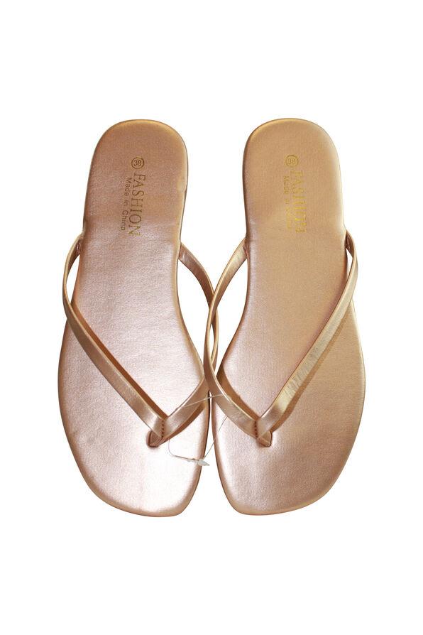 Metallic Look Flip Flop, , original image number 1