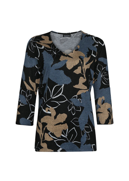 Autumn Leaves Top with Ruffle Sleeves, , original