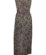 Floral Print Sleeveless Maxi Dress, Black, original image number 1