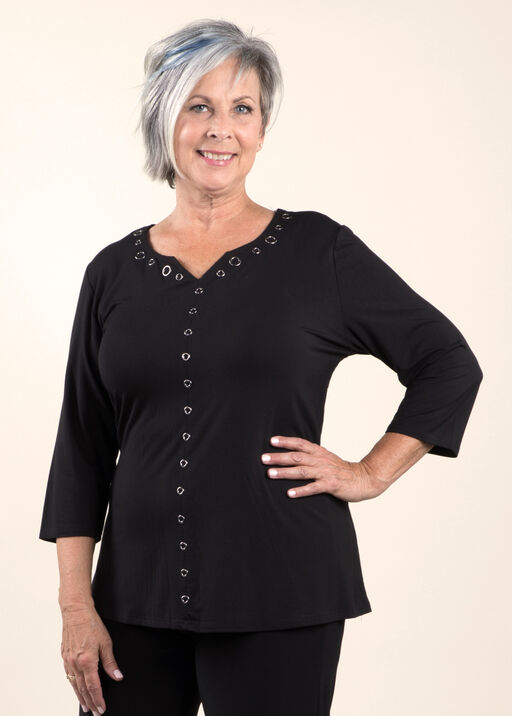 Bamboo A-Line top with Grommets, , original
