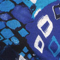 Print Sweater Knit Tunic Top, Royal, swatch