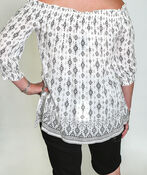 Amara Off the Shoulder Blouse, White, original image number 2
