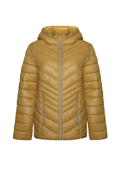 Short Ultralight Hooded Puffer Coat, , original