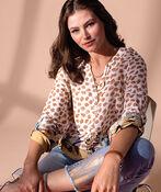 Audrey Straight Leg Crop Jean Gold Fray Hem , Denim, original image number 1