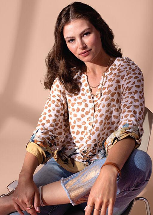 Audrey Straight Leg Crop Jean Gold Fray Hem , Denim, original