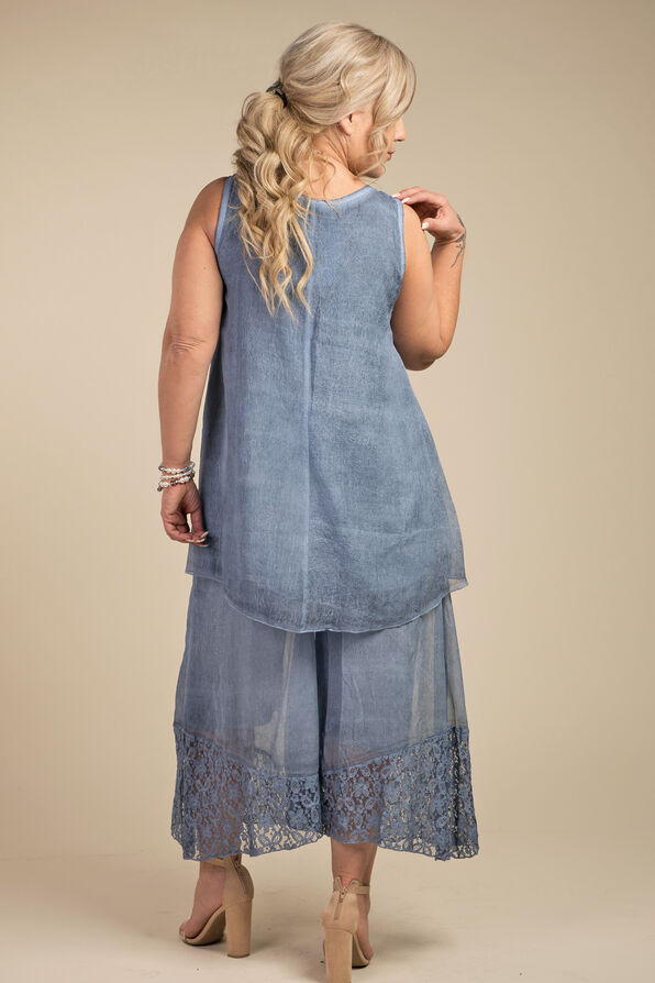 Mary Sleeveless Blouse, Denim, original image number 2
