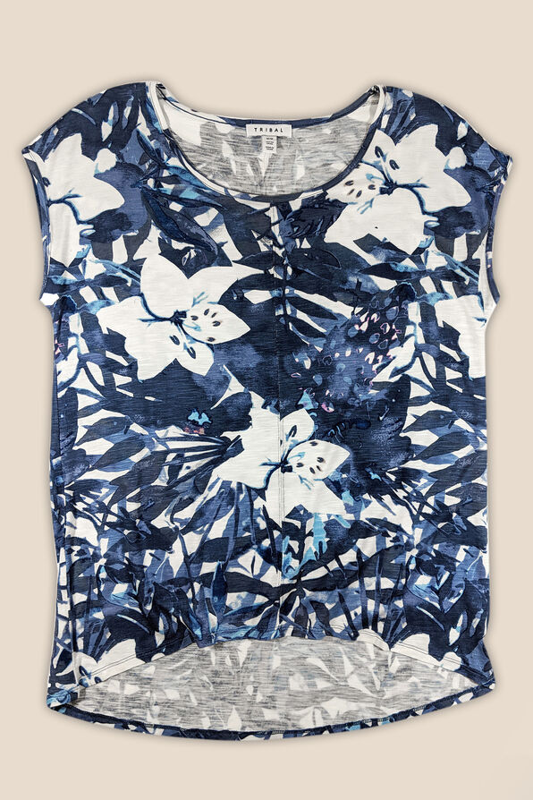 Hibiscus Garden Top, Navy, original image number 0