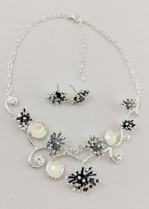 Brilliant Bursts Necklace and Earrings Set, , original