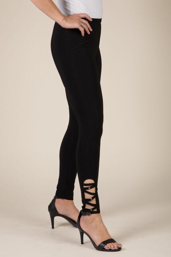 CrissCross Bling Legging, Black, original image number 0