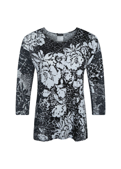 Floral Burnout Long Sleeve top, , original