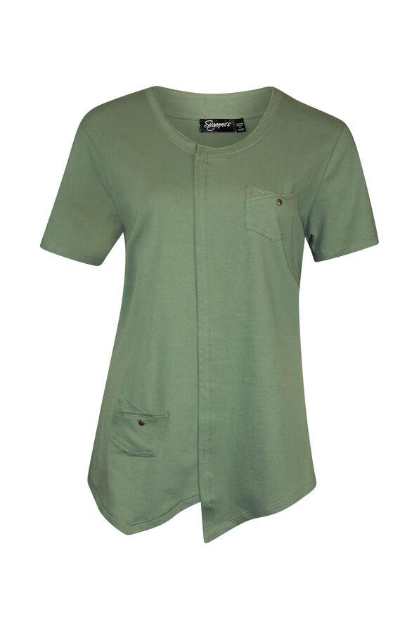 Asymmetrical Cross-Over T-Shirt, , original image number 1