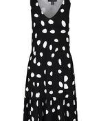 Polka Dot Sleeveless Dress, Black, original image number 1
