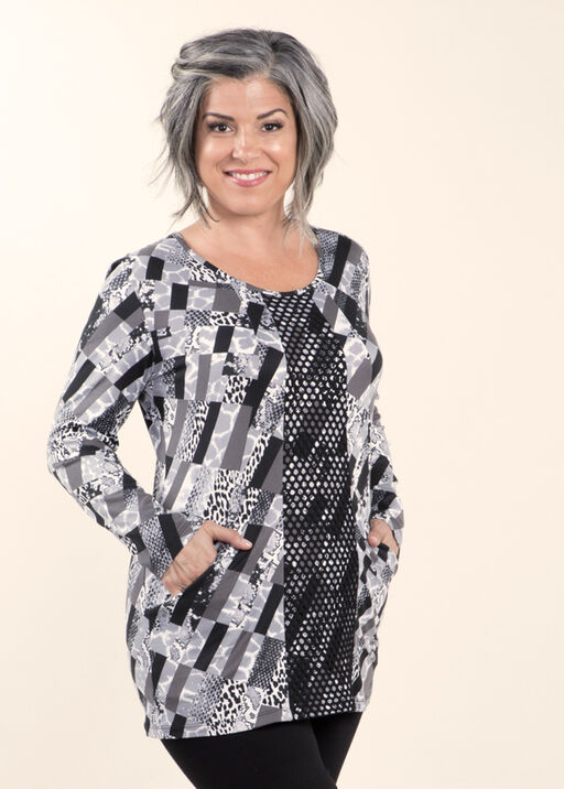 Printed Long Sleeve Tunic, , original