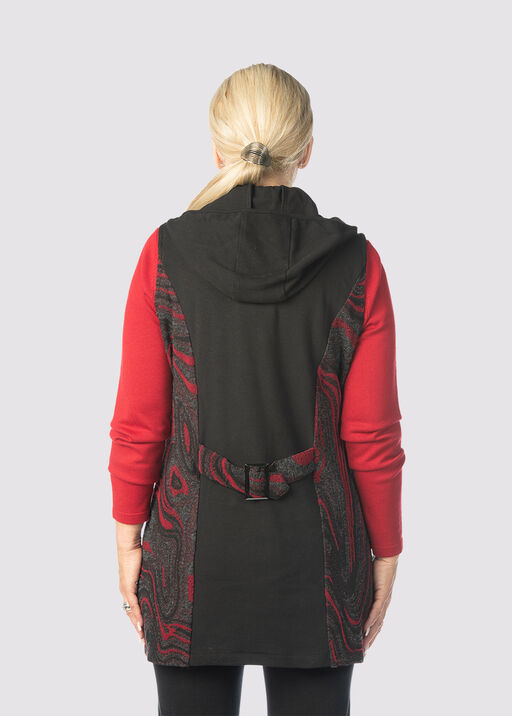 Sway Hooded-Tunic Vest, Red, original