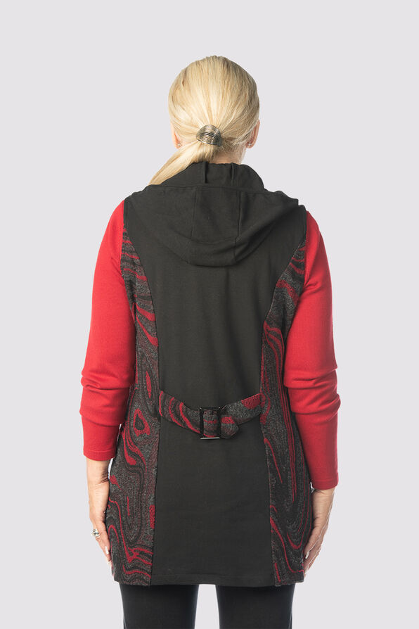 Sway Hooded-Tunic Vest, Red, original image number 1