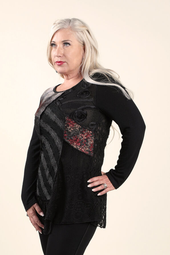 Novelty Tunic, Black, original image number 2