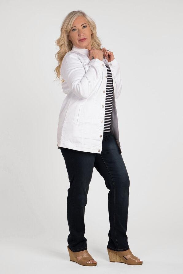 Jean Jacket Maxi, White, original image number 1