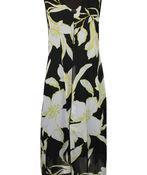 Sleeveless Chiffon Overlay Midi Dress , Lime, original image number 0