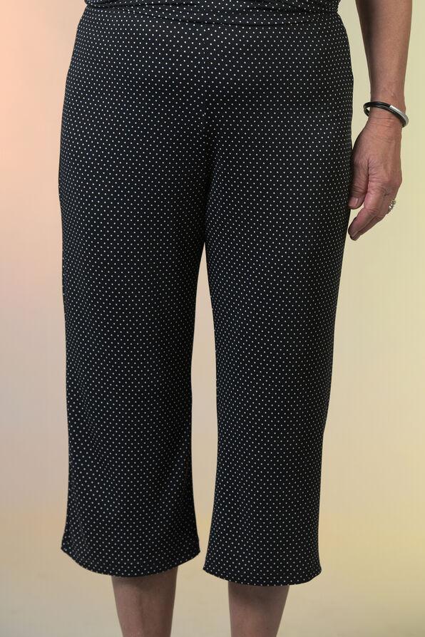 Pull On Crop Polka Dot Pant, Black, original image number 2