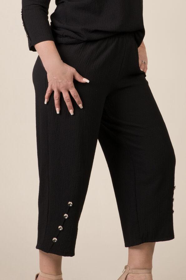 Button Cuff Capri, Black, original image number 0
