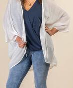 Lace Back Kimono, White, original image number 4