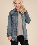 Jean Jacket Maxi, , original image number 2