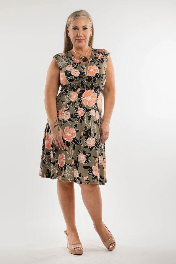 Peach Blossom Dress, Olive, original image number 0