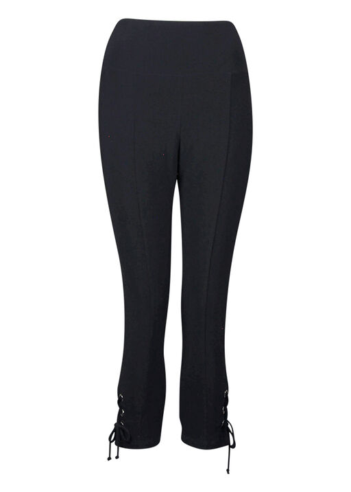 Capri Legging with Laced Hem, Black, original