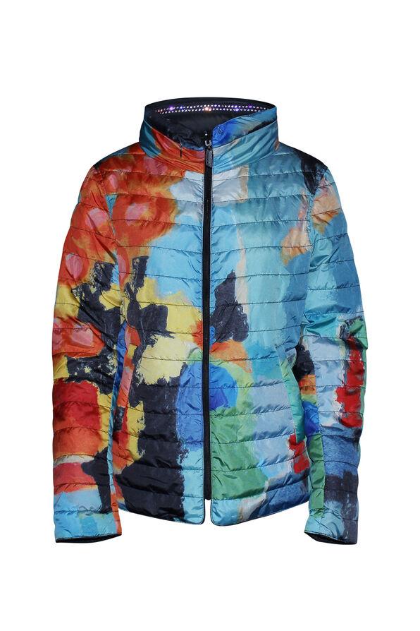 In the City Reversible Jacket with Hidden Hood, Orange, original image number 0