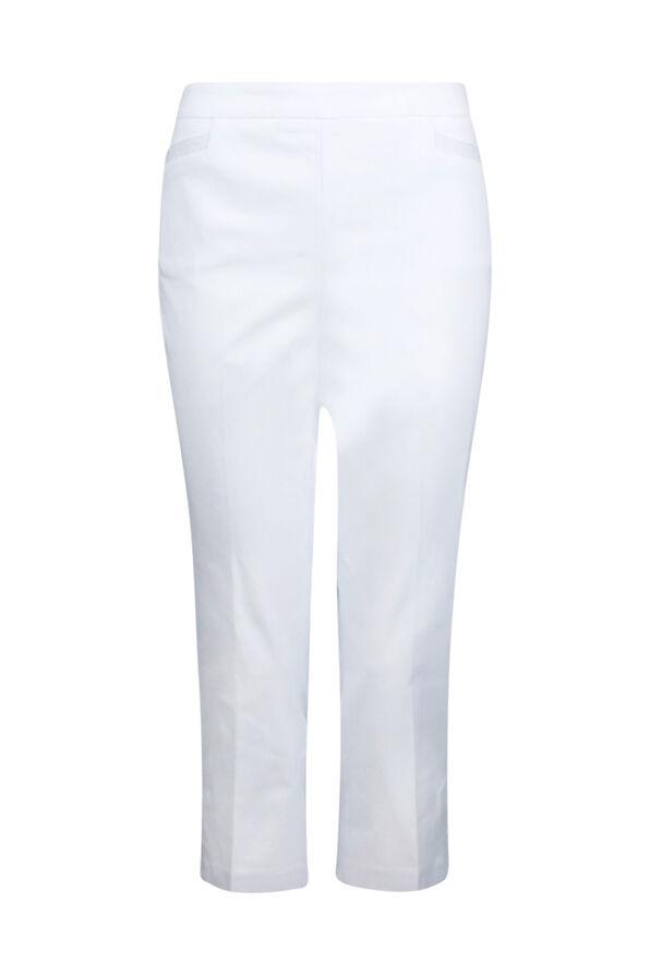 Tummy Control Capri Pant with Metallic Stripes, , original image number 1