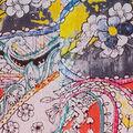 Sleeveless Paisley Print Midi Dress with Keyhole, Coral, swatch