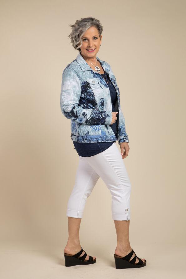 Selene Faux Denim Jacket, Blue, original image number 2