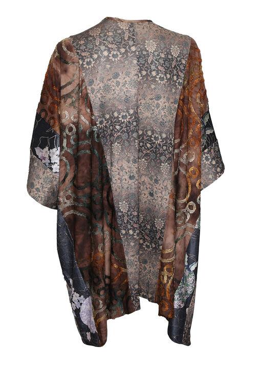 Golden Accent Kimono, Brown, original