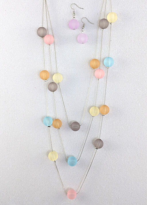 Bubbles Necklace and Earrings Set, , original