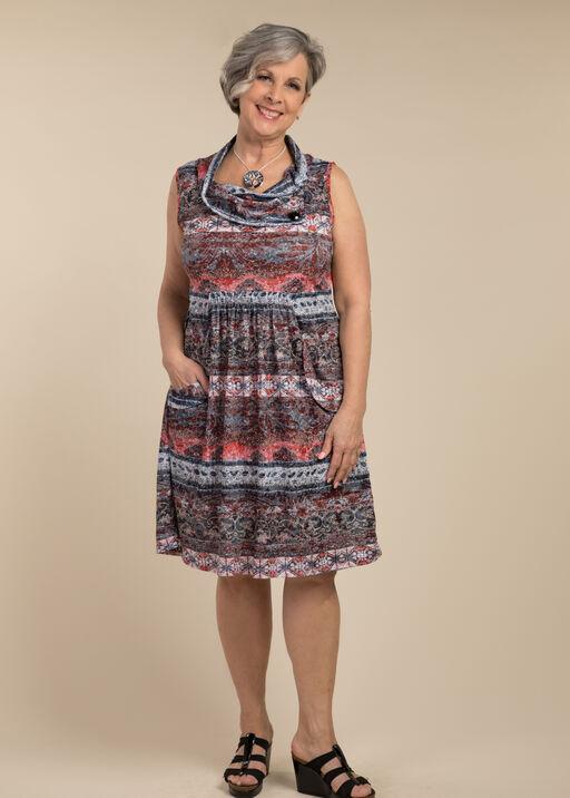 Laura Cowl Neck Dress , , original